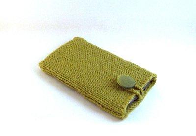 Custodia smartphone a maglia in lana (art. 43_verde)