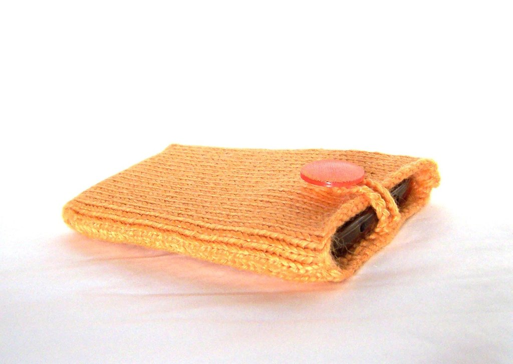 Custodia smartphone a maglia in lana (art. 43_arancione)