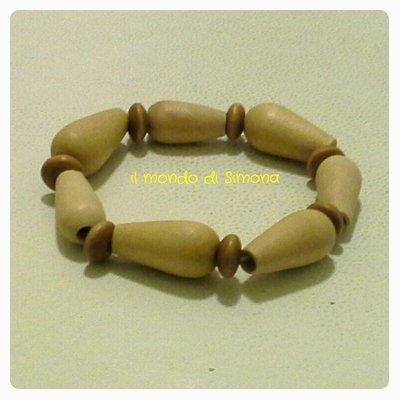 braccialetto perle legno