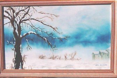 Paesaggio con neve candida