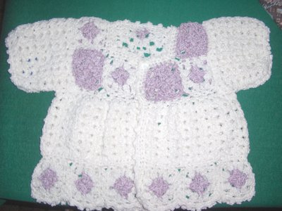 Giacca giacchetta bimba bambina uncinetto 12/18 mesi