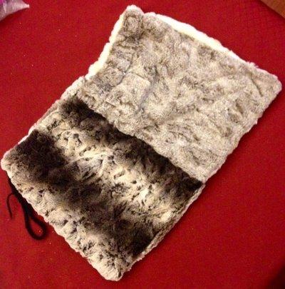 sacchetti porta tutto in pelliccia ecologica