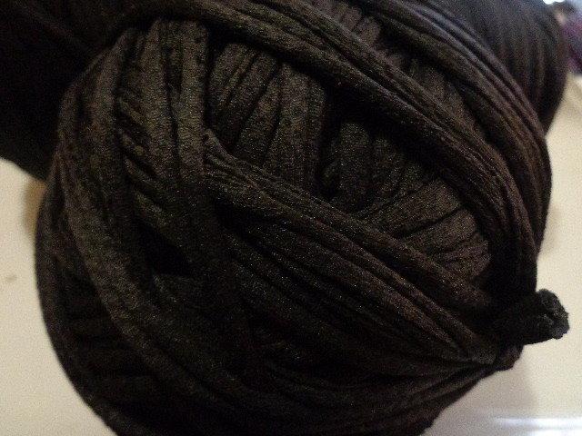 Fettuccia elastica nera lavorata