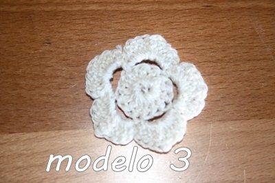 Flor Crochet Mod. 3