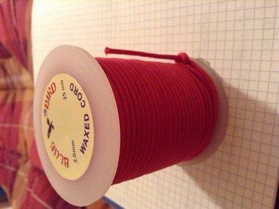 Cordoncino cotone cerato rosso