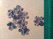 Perlina metacrilato fiore col. azzurro/blu