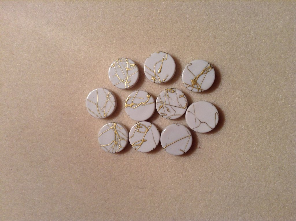 Perline plastica tonde col. bianco