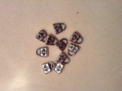 Charms borsetta colore argento
