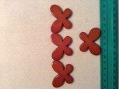 Perline farfalla colore marrone chiaro
