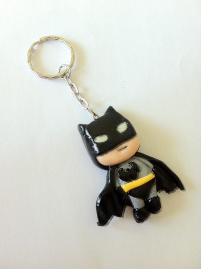 Portachiavi Batman in fimo