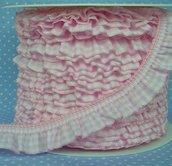 merletto,Ruche elastica, a quadri Vichy, rosa o celeste ,1 M