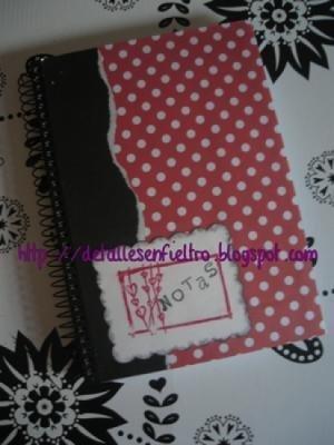 Cuaderno Topos Rojo