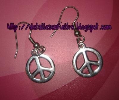 """Pendientes """"Give Peace a Chance"""""""
