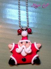 Collana in Fimo Babbo Natale