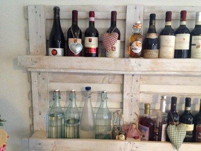 Pallet porta bottiglie per la casa e per te for Vendita pallet per arredamento