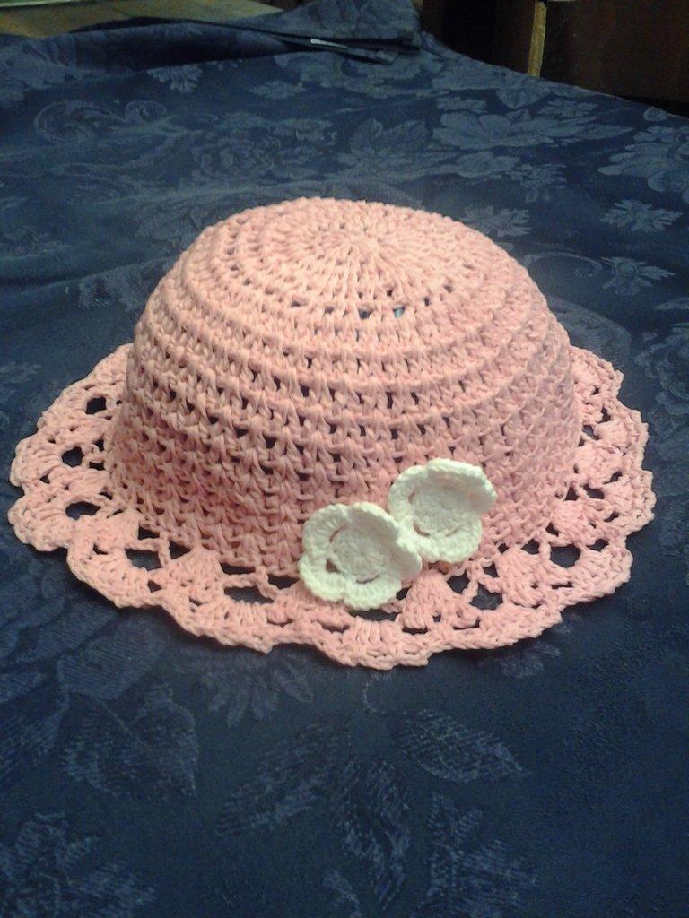 Cappello Rosa Bambina Uncinetto Bambini Abbigliamento Di Le C