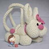 Borsa uncinetto amigurumi coniglio