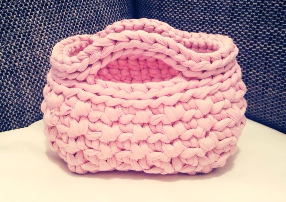 Borsa fettuccia rosa