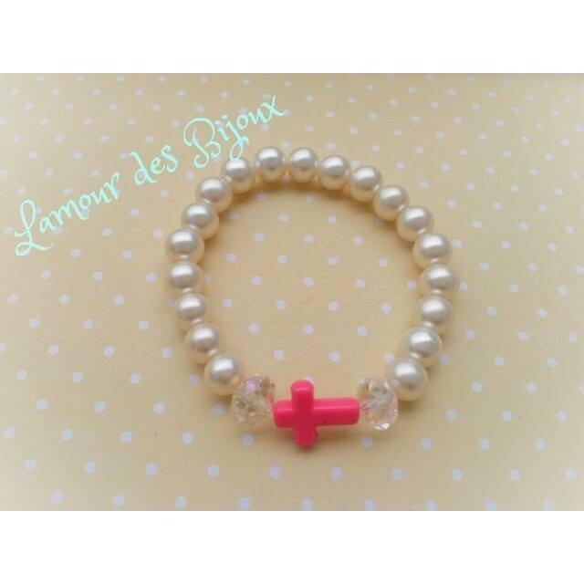 """braccialetto """"rosario"""" con croce"""
