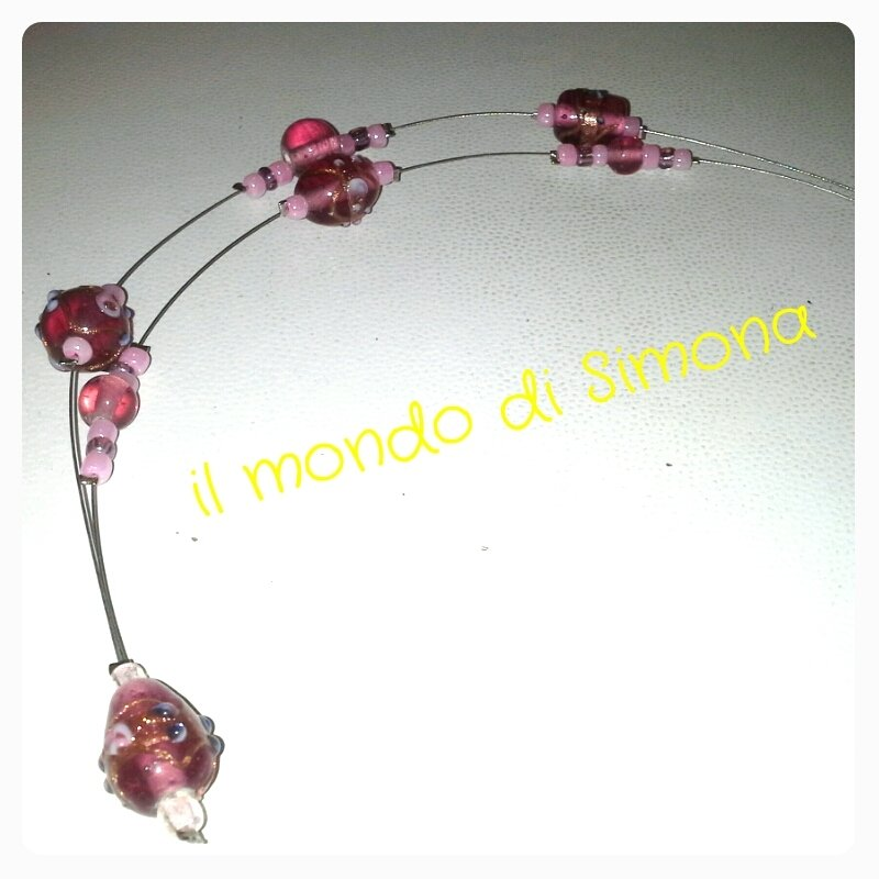 collana perle tipo murrina veneziana