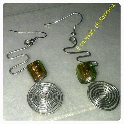 orecchini pendenti lavorazione a mano