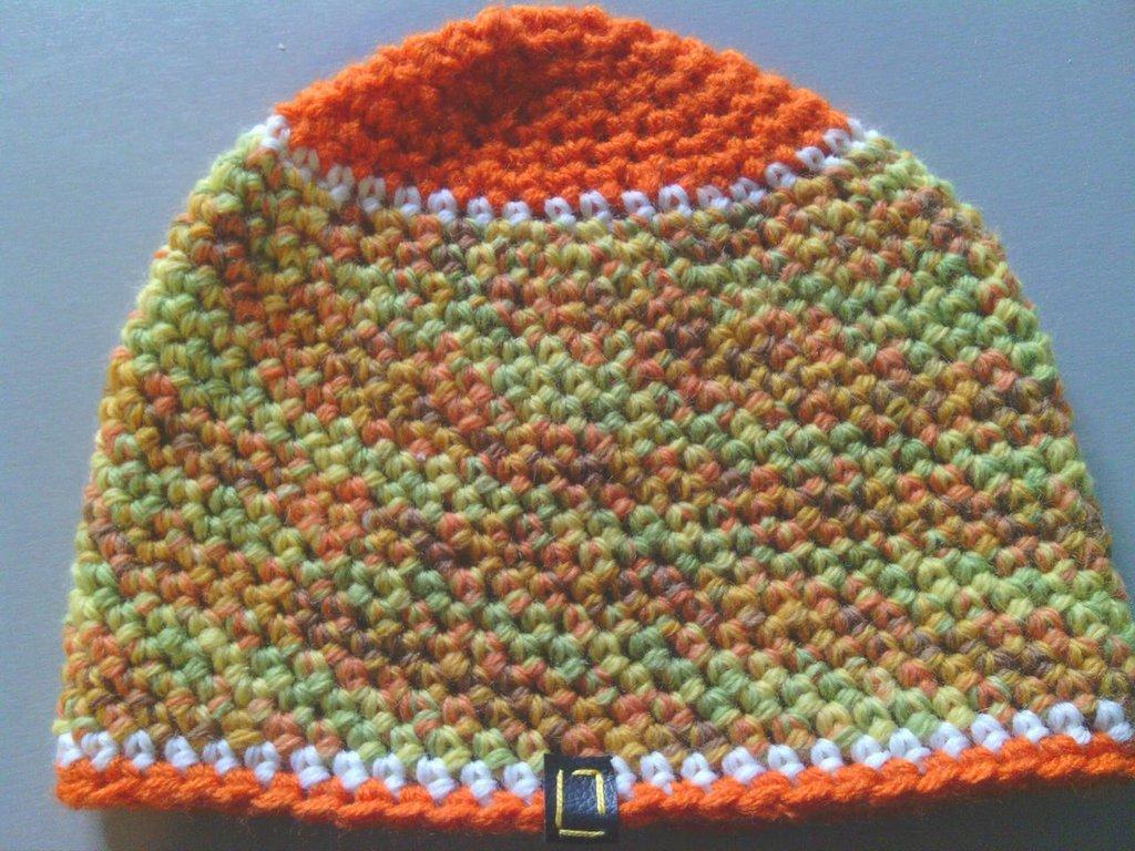 _cappello  uomo, donna  ragazzo in lana, fatto a mano all'uncinetto C064_