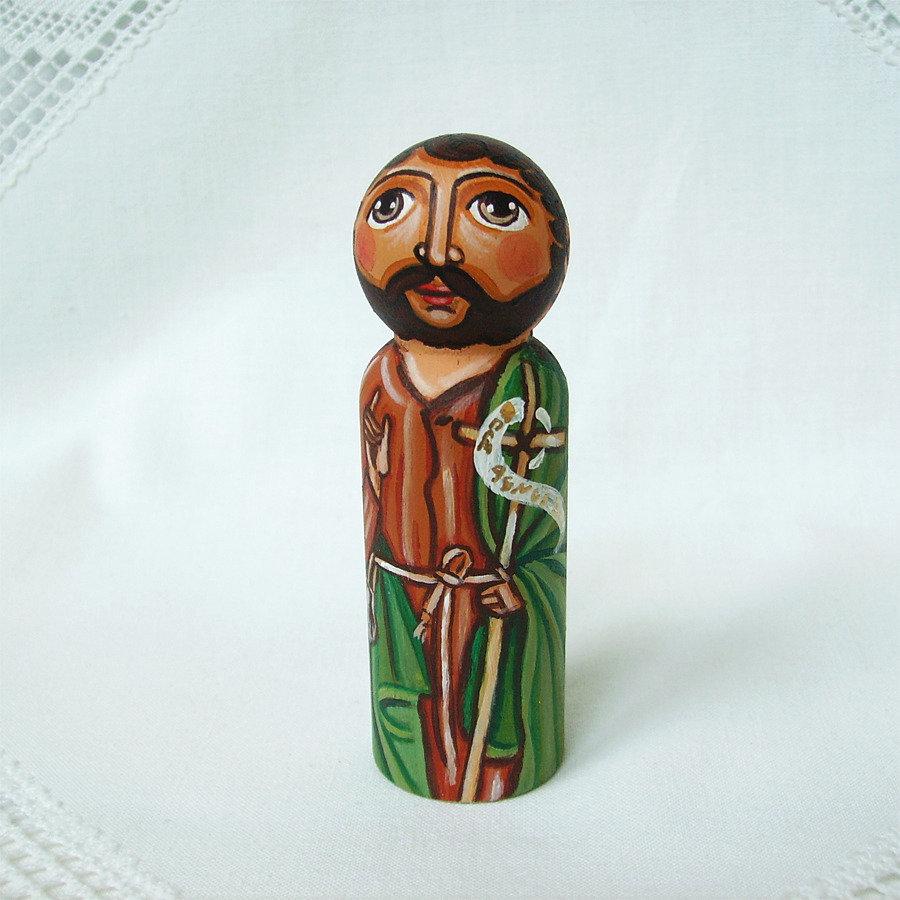 San Giovanni Battista Cristo battesimo figurina bambola