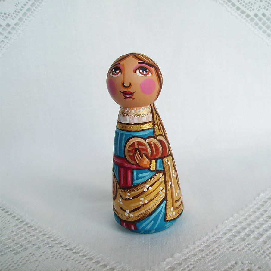 Santa Emma di Gurk patronessa figurina bambola