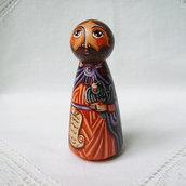 Profeta Elia testamento Bibbia bambola figurina