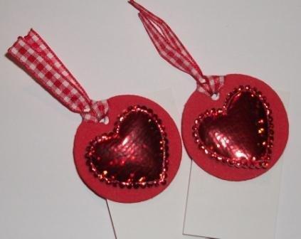 Bigliettini Chiudipacco San Valentino - Mini Tags - Red version^^