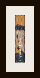 schema bracciale Betty Boop in stitch peyote ( 2 drop ) pattern - solo per uso personale