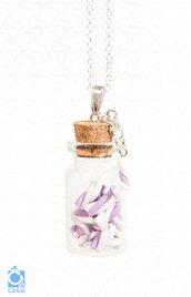 Collana Mini Bottiglia con Marshmallow | fimo