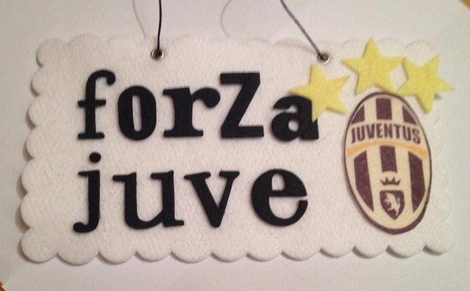 targhetta in feltro squadra calcio Juventus