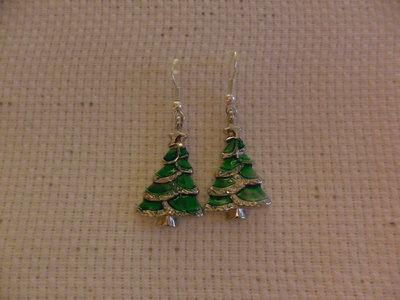 Orecchini pendenti albero di Natale