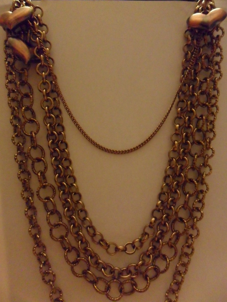 Collana lunga mix di catene