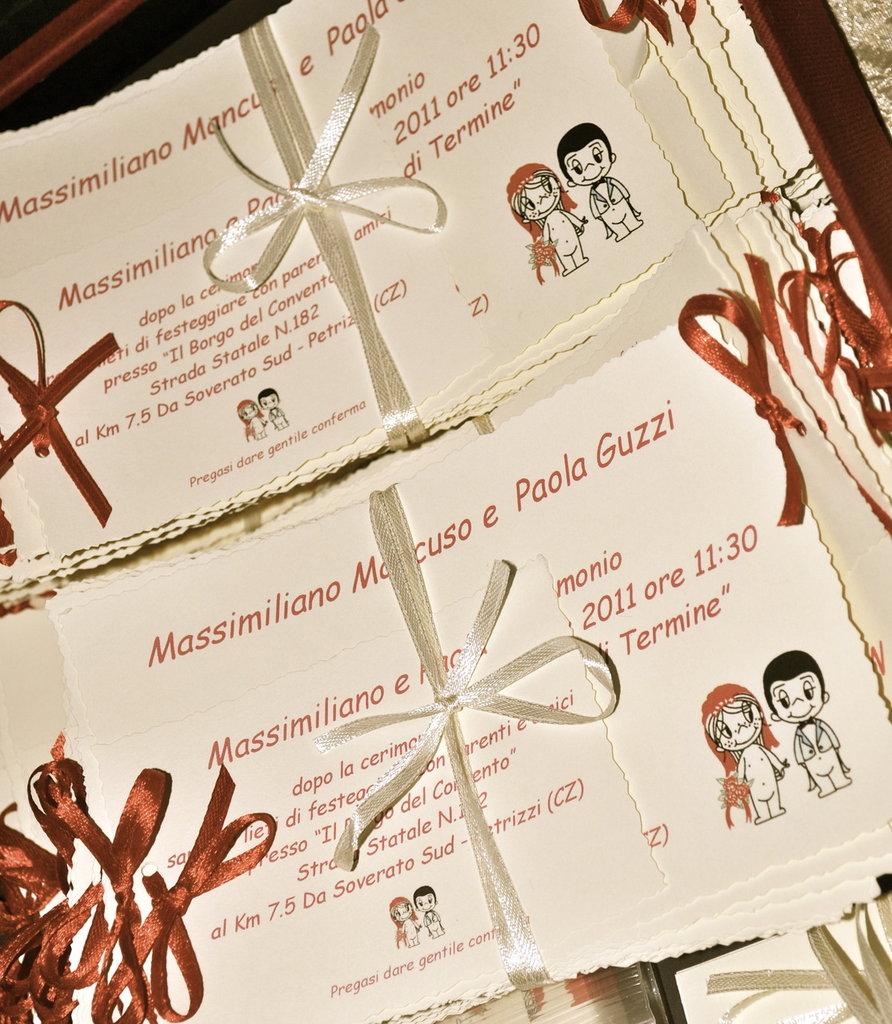 """PARTECIPAZIONE AVORIO collezione """"Love is.."""""""