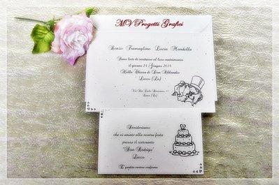 """PARTECIPAZIONE di matrimonio simpatica - collezione """"BIMBI SPOSI"""""""