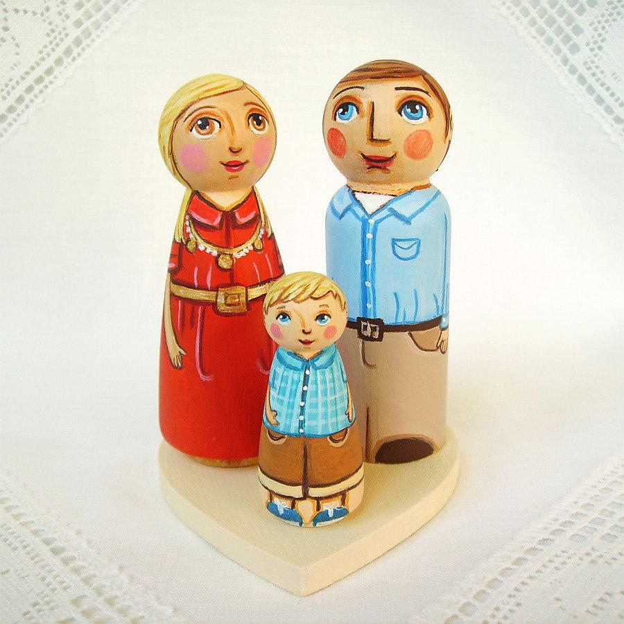 Famiglia personalizzato su misura figurina ricordo