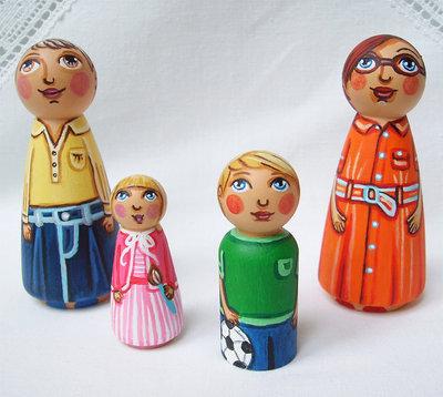 Famiglia personalizzato su misura figurina nonna