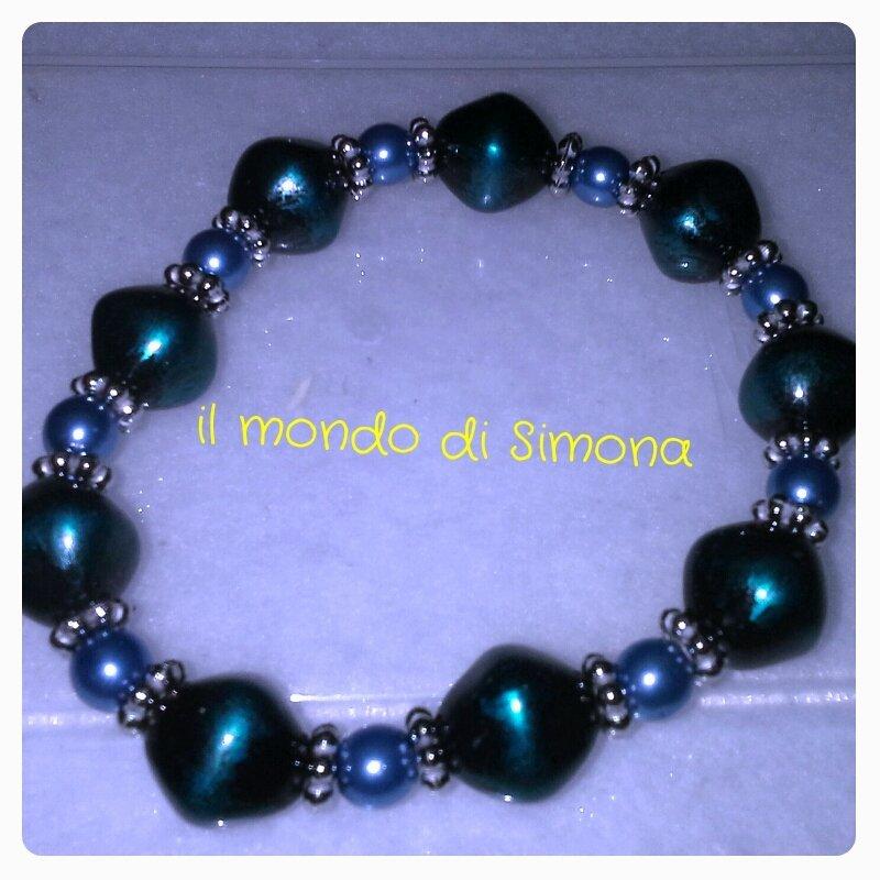 bracciale elastico azzurro