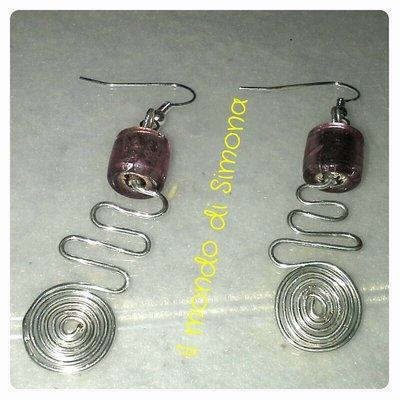 orecchini pendenti lavorati
