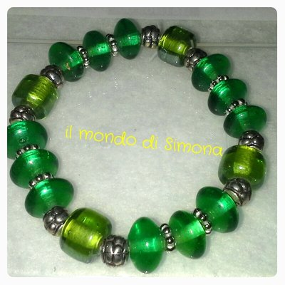 braccialetto color verde smeraldo