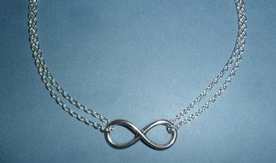 Girocollo Infinity imitazione Tiffany con simbolo infinito