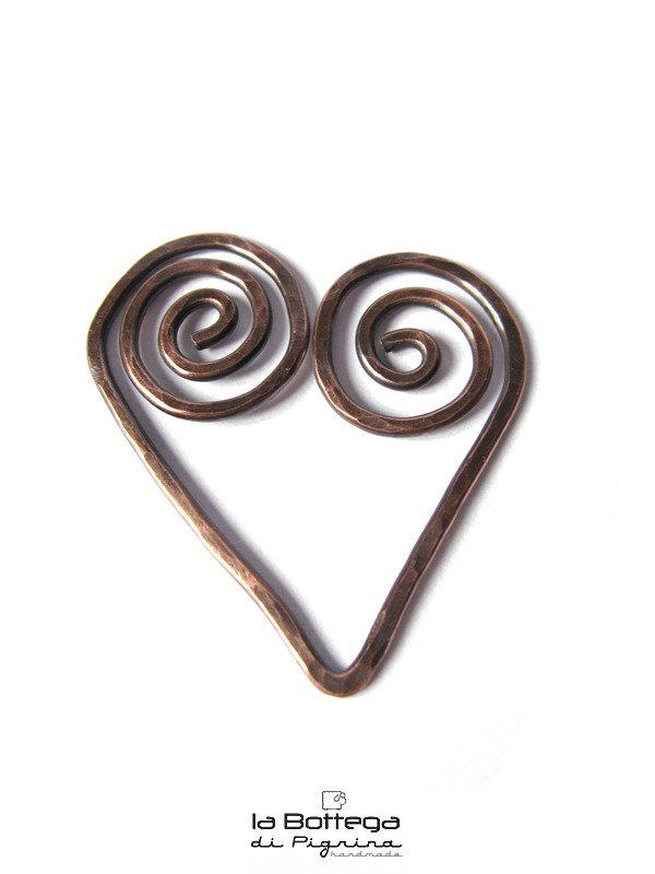 Segnalibro in Rame - Curly Heart