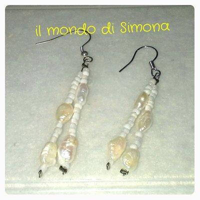 orecchini perle di fiume