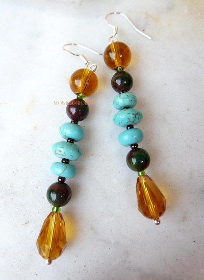 """Orecchini con perle e perline fatti a mano """"Vera"""""""