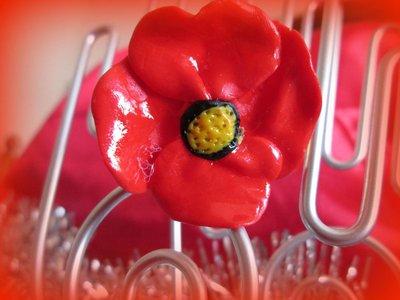 anello tulipano in fimo