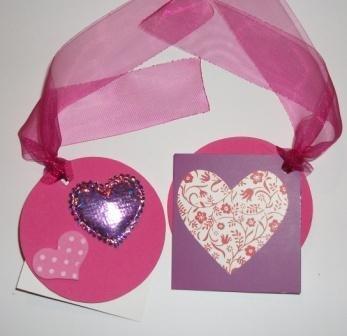 Bigliettini Chiudipacco San Valentino - Etichette Tags - Pink version^^