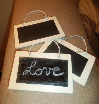 Mini lavagna per messaggi d'amore