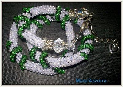 collana con perline spirale cellini/spirale crochet